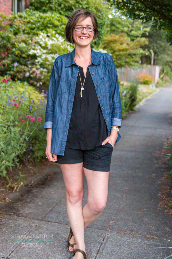 Chambray Cheyenne Shirt sewn by Straight Stitch Designs